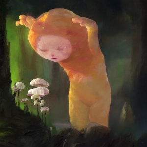 the-mushroom-hunter-24x24-oil-on-canvas